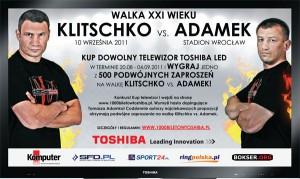 1 Biuro Podróży Reklamy, Tomasz Adamek, Toshiba, Toshiba Television Central Europe, Vitalij Klitschko