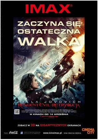 1 Cinema City, IMAX, Iwona Kuźnik, Milla Jovovich, Resident Evil