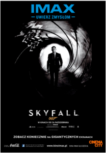 1 Cinema City, IMAX, James Bond, Skayfall